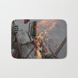 Templar Knight and Lion Bath Mat