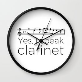 I speak clarinet Wall Clock