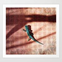 lizard Art Prints featuring Lizard by AhaC
