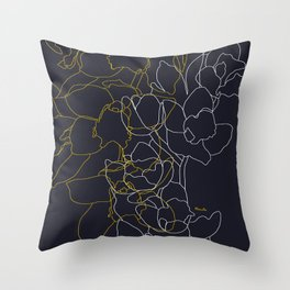 Pure poetry and some flowers Throw Pillow