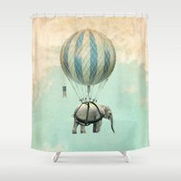 ballon Shower Curtains featuring Jumbo by Vin Zzep