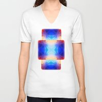 mirror V-neck T-shirts featuring Mirror by Vargamari