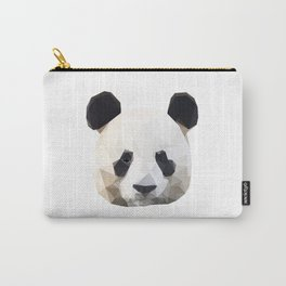 Panda head Low Poly Carry-All Pouch