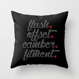 flush offset camber fitment v4 HQvector Throw Pillow