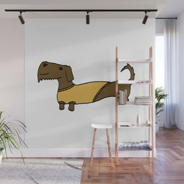 Dacshund with Sweater Wall Mural