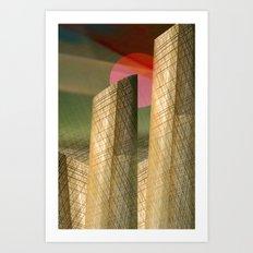 Futuristic environment Art Print