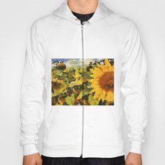 VG style fields of sunflowers Hoody
