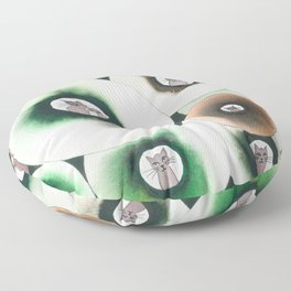 Lolo Whimsical Cats Floor Pillow