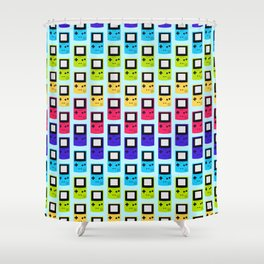 Rainbow Nostalgia Shower Curtain