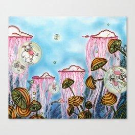Bubble cats Canvas Print