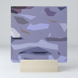 Fragmented Violet Mini Art Print