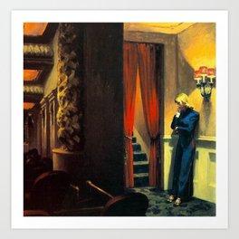NEW YORK MOVIE - EDWARD HOPPER Art Print