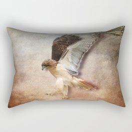 Red Tail Hawk in Vintage Light Rectangular Pillow