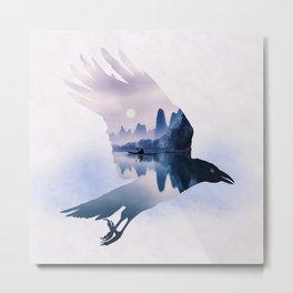 Crow Mystic River - I Metal Print