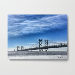 Iowa-Illinois Memorial Bridge (Winter 2017) Metal Print