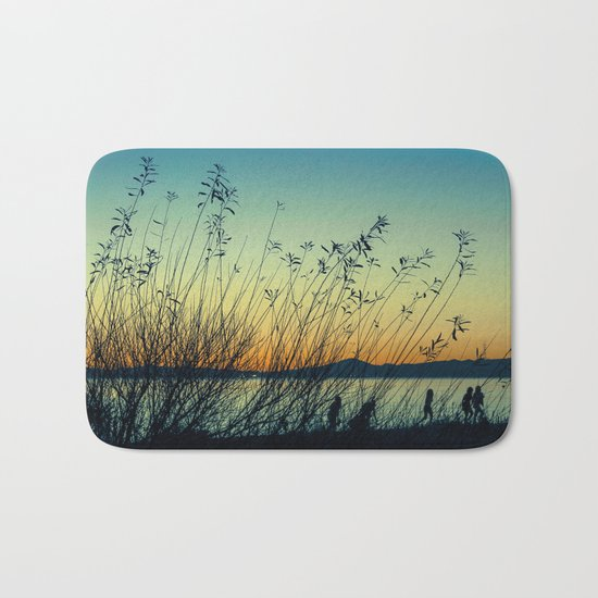 Kids at Dusk Bath Mat