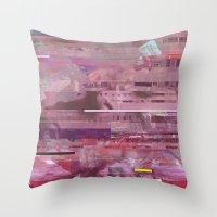 glitch Throw Pillows featuring Glitch  by Mikath