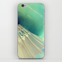 feather iPhone & iPod Skins featuring Feather by Yilan