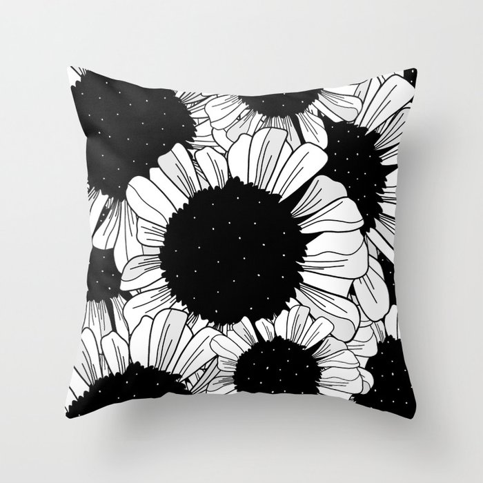 The star filled flowers Throw Pillow