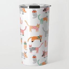 Winter Kitties Travel Mug