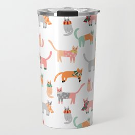 Winter Kitties Travel Mug