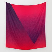 ombre Wall Tapestries featuring OMBRE / blackberry by DANIEL COULMANN