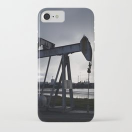 Oil Beam Pump New Plymouth Habour iPhone Case