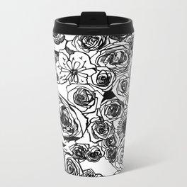 PHOENIX AND THE FLOWER GIRL FLOWERS PRINT Metal Travel Mug