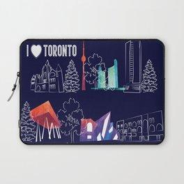 I heart Toronto (navy) Laptop Sleeve
