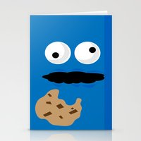 cookie monster Stationery Cards featuring Cookie Monster by Callum McGoldrick