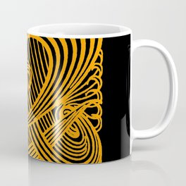 Art Nouveau Swirls in Orange and Black Coffee Mug