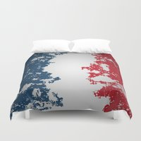 france Duvet Covers featuring France by Flat Design