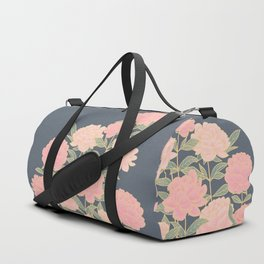 Pink peonies vintage pattern Duffle Bag