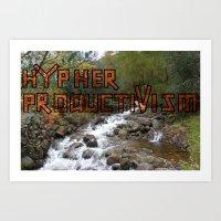 Acoustic Typography: Hypher Productivism [ORANGE] Art Print