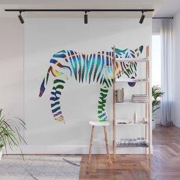 Rainbow Zebra Wall Mural