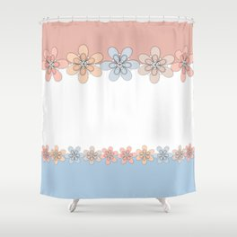 Flowers paper, cut paper Shower Curtain