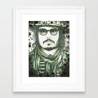 johnny depp Framed Art Prints featuring Johnny Depp by LisilV