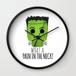 What A Pain In The Neck! Wall Clock