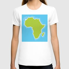 map of Africa Continent and blue Ocean. Vector illustration T-shirt