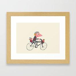 Biker Daddy Framed Art Print