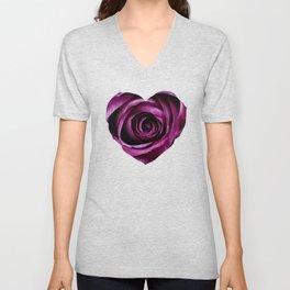Purple Rose Unisex V-Neck