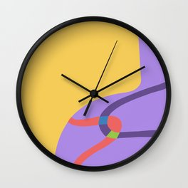 Ribbon Vase  Wall Clock