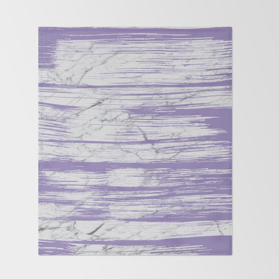 Modern abstract violet watercolor brushstrokes marble pattern by pink_water