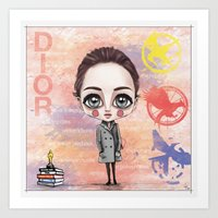 jennifer lawrence Art Prints featuring Jennifer Lawrence by Joana Pereira
