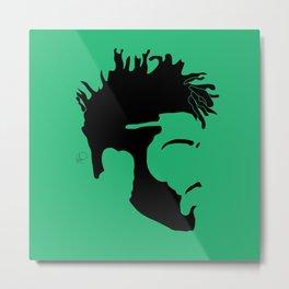 light green Metal Print