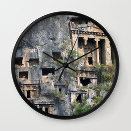 Rock Tombs Photograph Fethiye Wall Clock