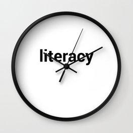 literacy Wall Clock