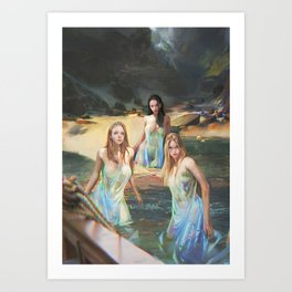 "Sirens (""Charm of of the Ancient Enchantress"" Series) Art Print"