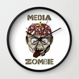 Media Zombie Wall Clock