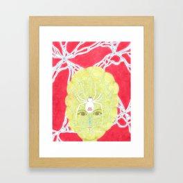 Meditative Mama Series~ White Widow~ Framed Art Print